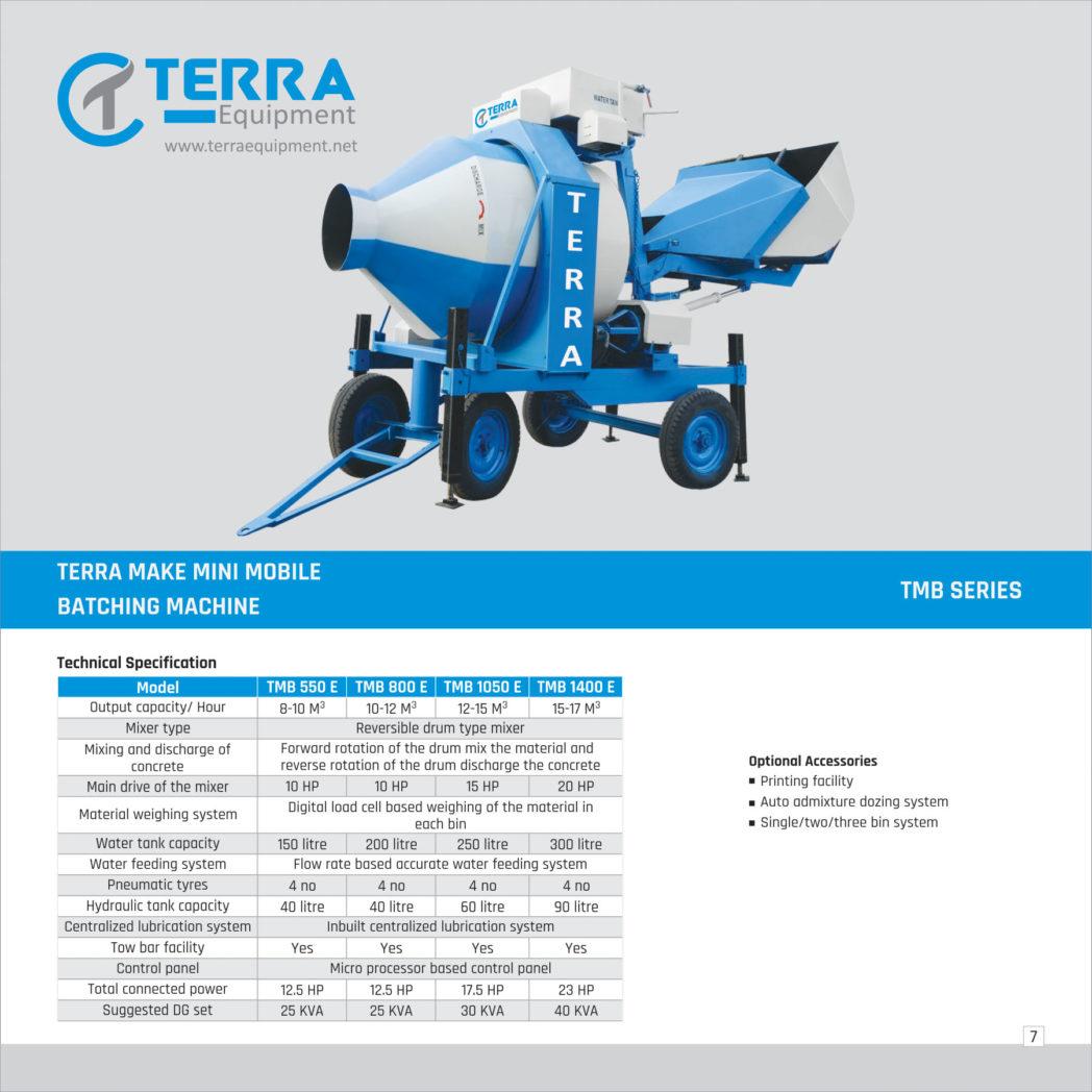 Mini mobile Batching machine (TMB Series) Diesel Engine